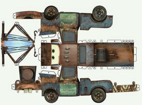 Imprimibles de Cars gratis Rayo Mate y Max  Cars Papercraft