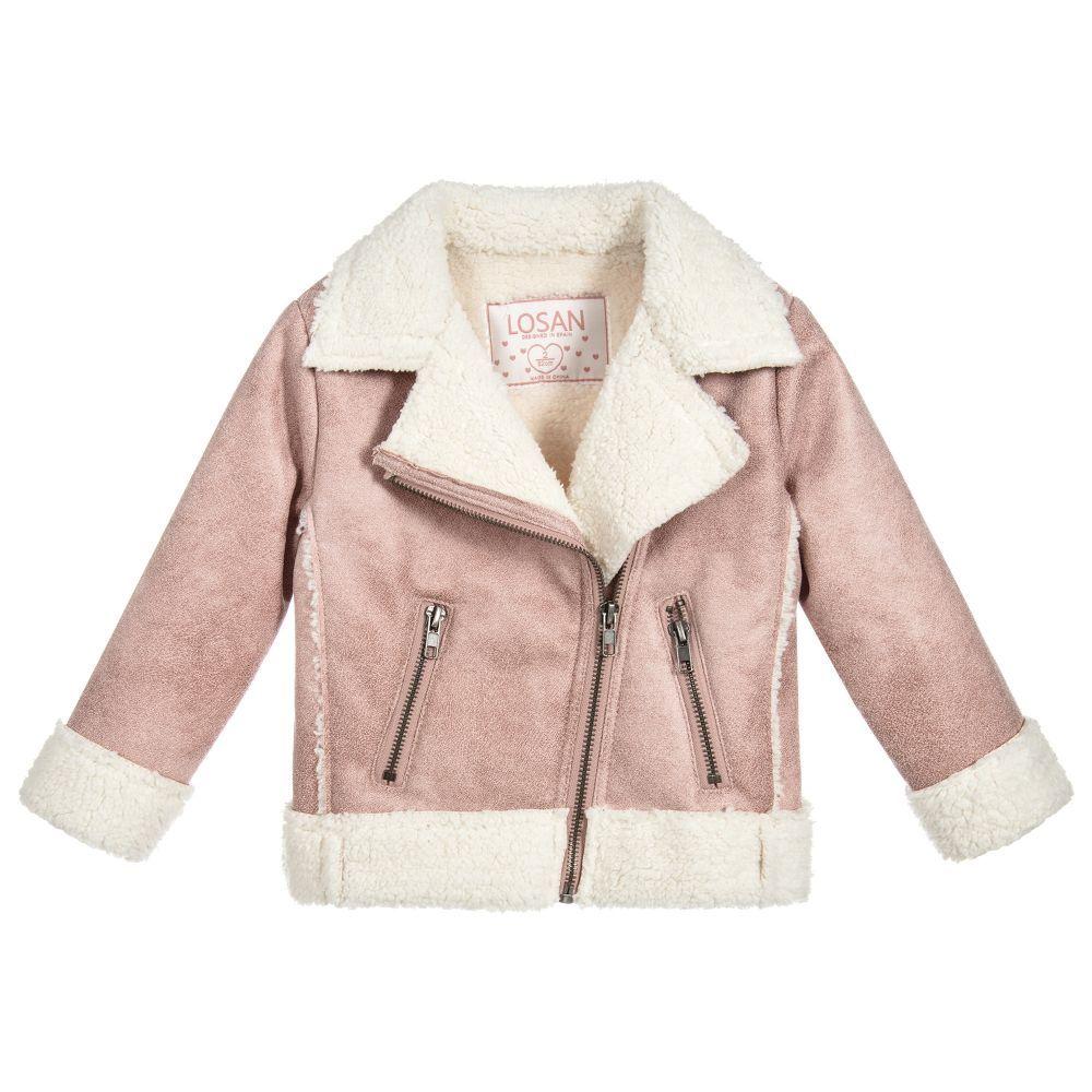 3464ac0a42f9 Girls Pink Aviator Jacket