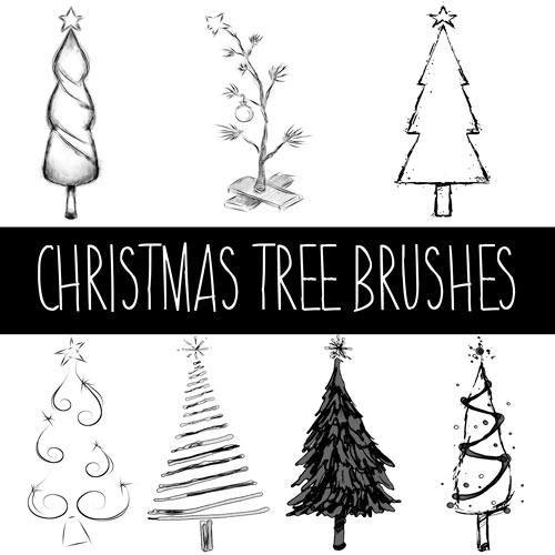 Christmas Tree Brushes Free Photoshop Brushes At Brusheezy Photoshop Brushes Free Free Photoshop Tree Photoshop