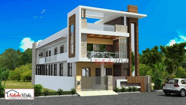 Double Storey Elevation Two Storey House Elevation 3d Front View House Elevation Duplex House Design Double Storey House