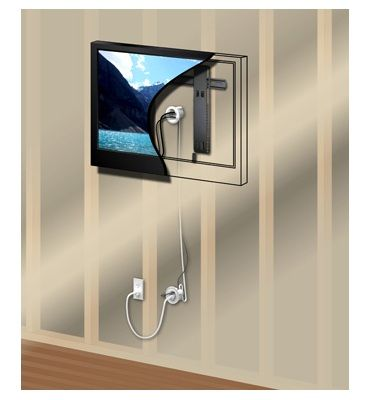 wall mount flat screen tv cable power kit legrand wiremold by legrand i want good ideas. Black Bedroom Furniture Sets. Home Design Ideas