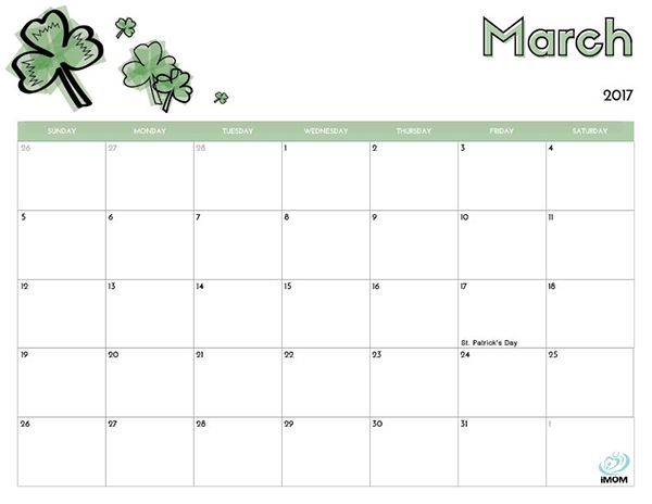 2017 Printable Calendar for Kids | Printable calendars, Free ...