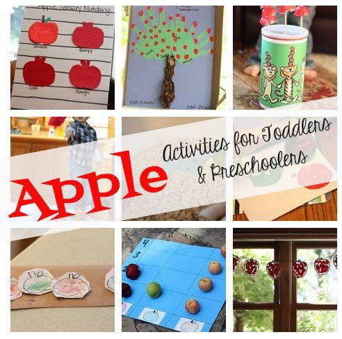 Apple Activities for Toddlers & Preschoolers
