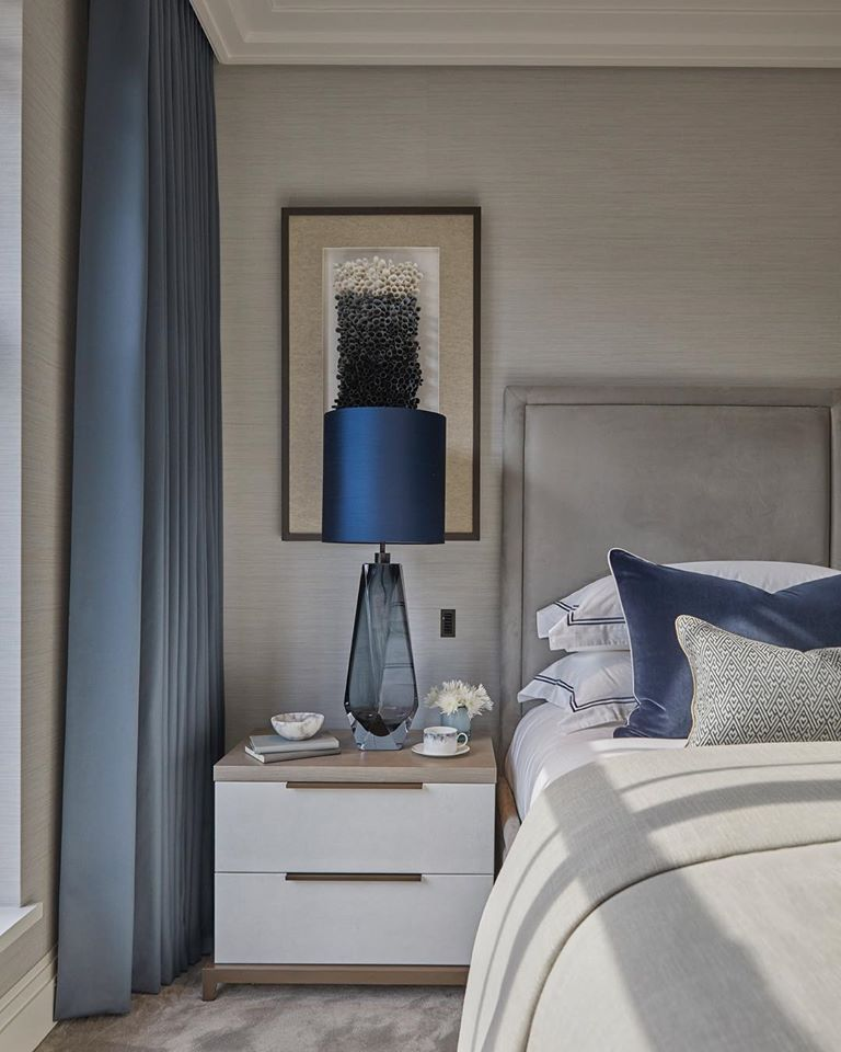 Relaxing Contemporary Bedroom With A Silver Grey And