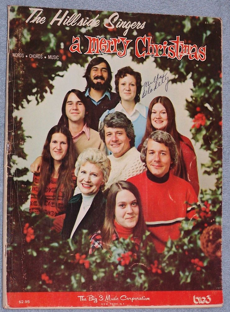 Hillside Singers A Merry Christmas Song Book Words Chords Music ...