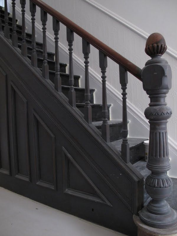 Best Image Result For Grey Stairs Paint Painted Stairs Black 640 x 480