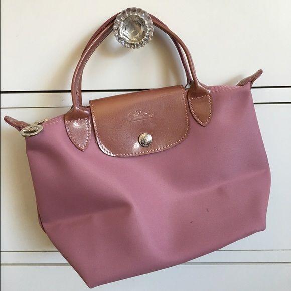 fbd553c7132 Longchamp handbag Small pale pink handbag with patent trim Longchamp Bags  Mini Bags