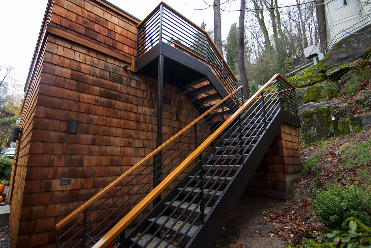 outdoor steel stairs google search - Exterior Stairs Designs