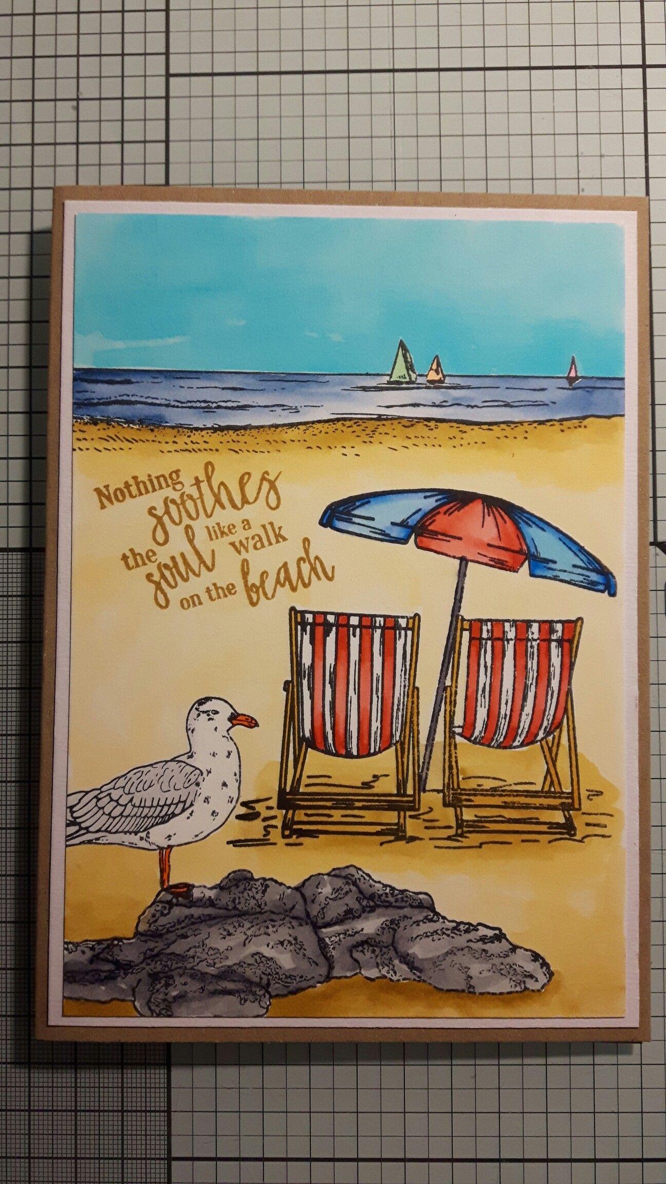 beachy birthday card  card craft birthday cards cards