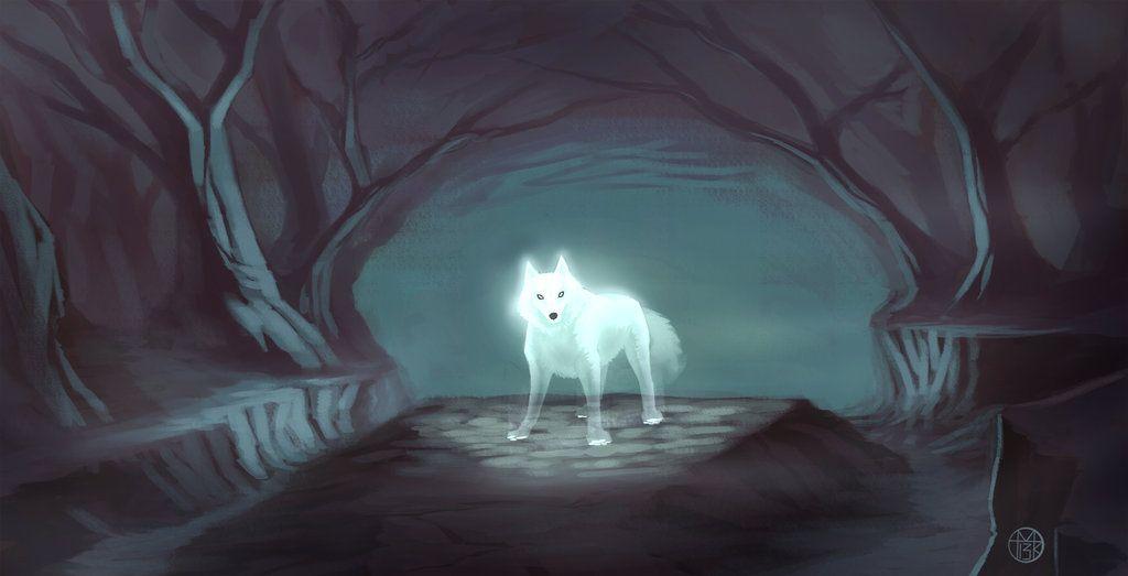 Spirit wolf by Arbitrarian on DeviantArt