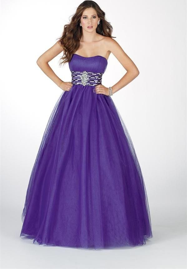 Ball Gown Sweetheart Sequined Purple Prom Dress | Kayla\'s pins ...