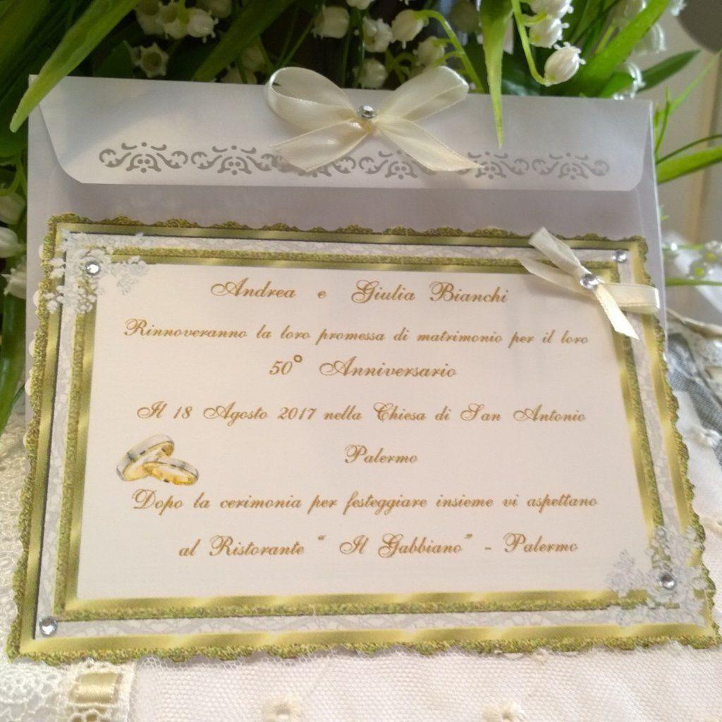 Invito 50 Anniversario Personalizzato Nozze D Oro 50 Anniversario Promesse Di Matrimonio