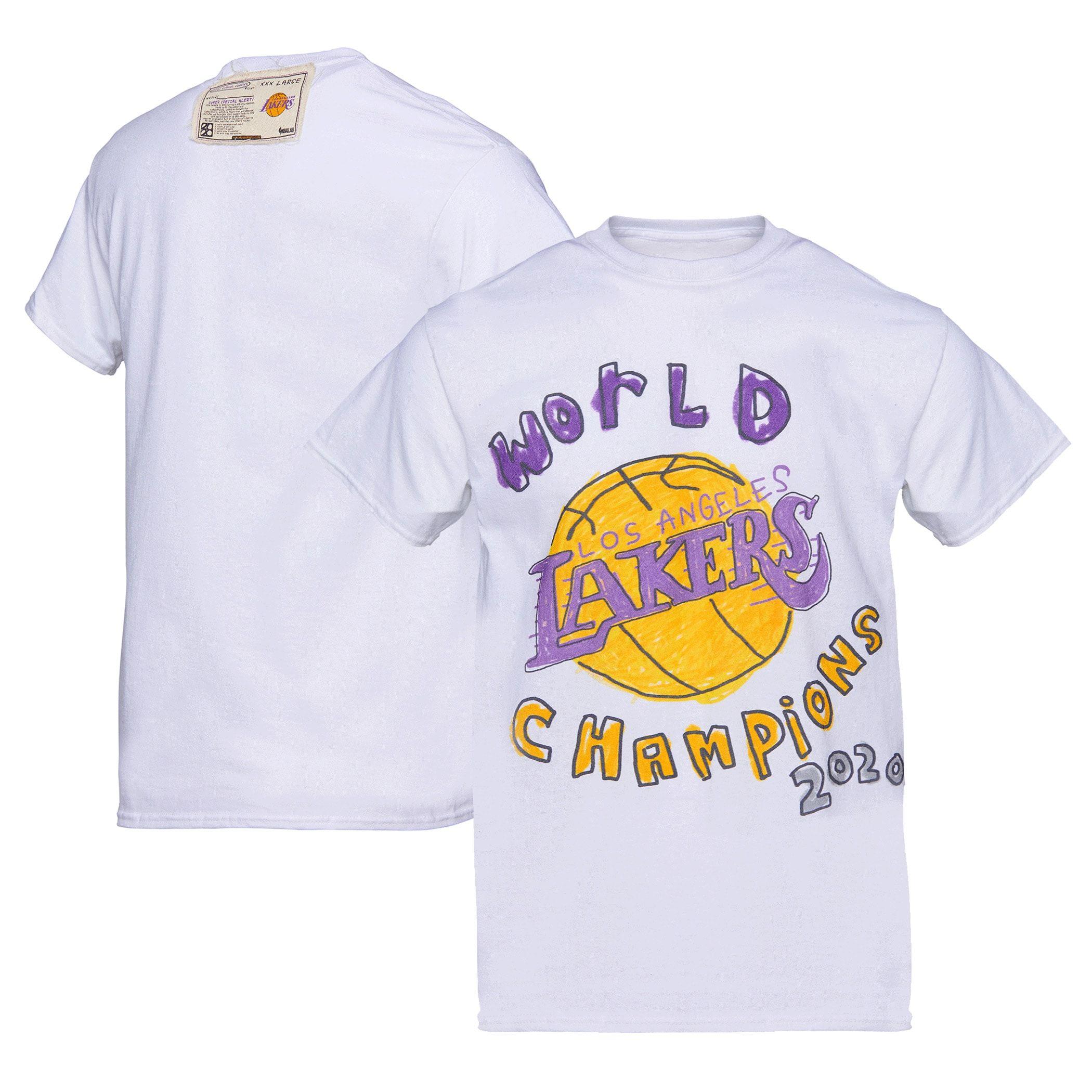 Men S Los Angeles Lakers White 2020 Nba Finals Champions T Shirt In 2020 Los Angeles Lakers Nba T Shirts Nba Finals