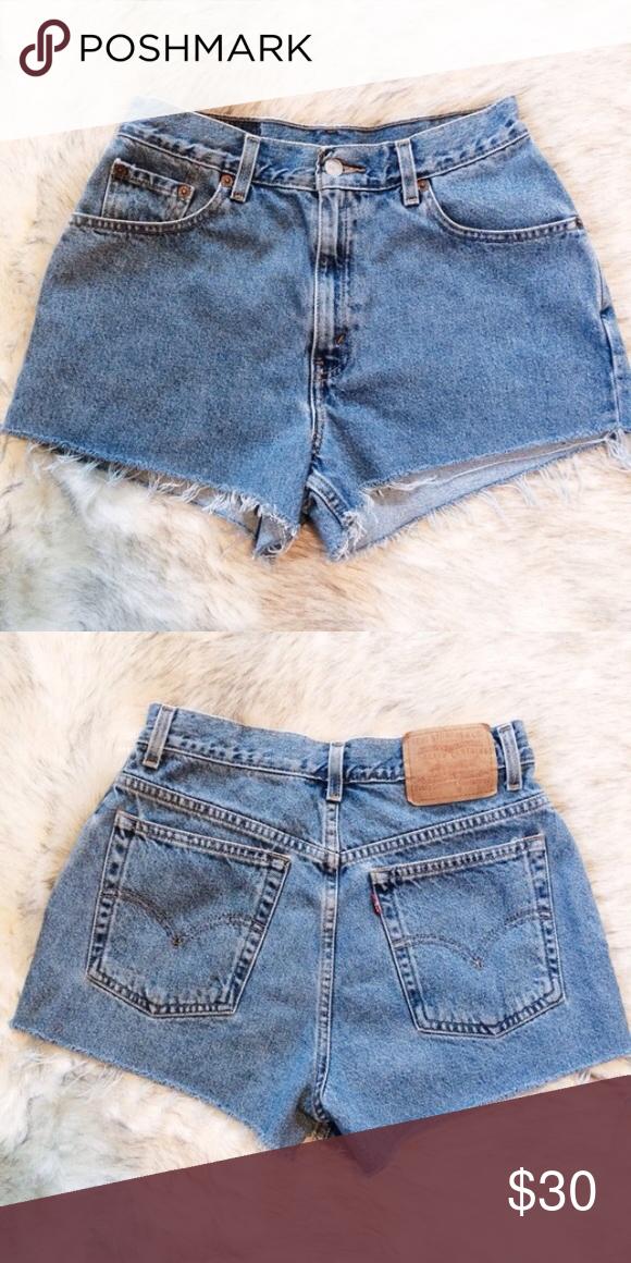 f10079b0 thrifted levi's shorts reposh vintage levi's denim shorts; size 8 (fits  26-28) Levi's Shorts Jean Shorts