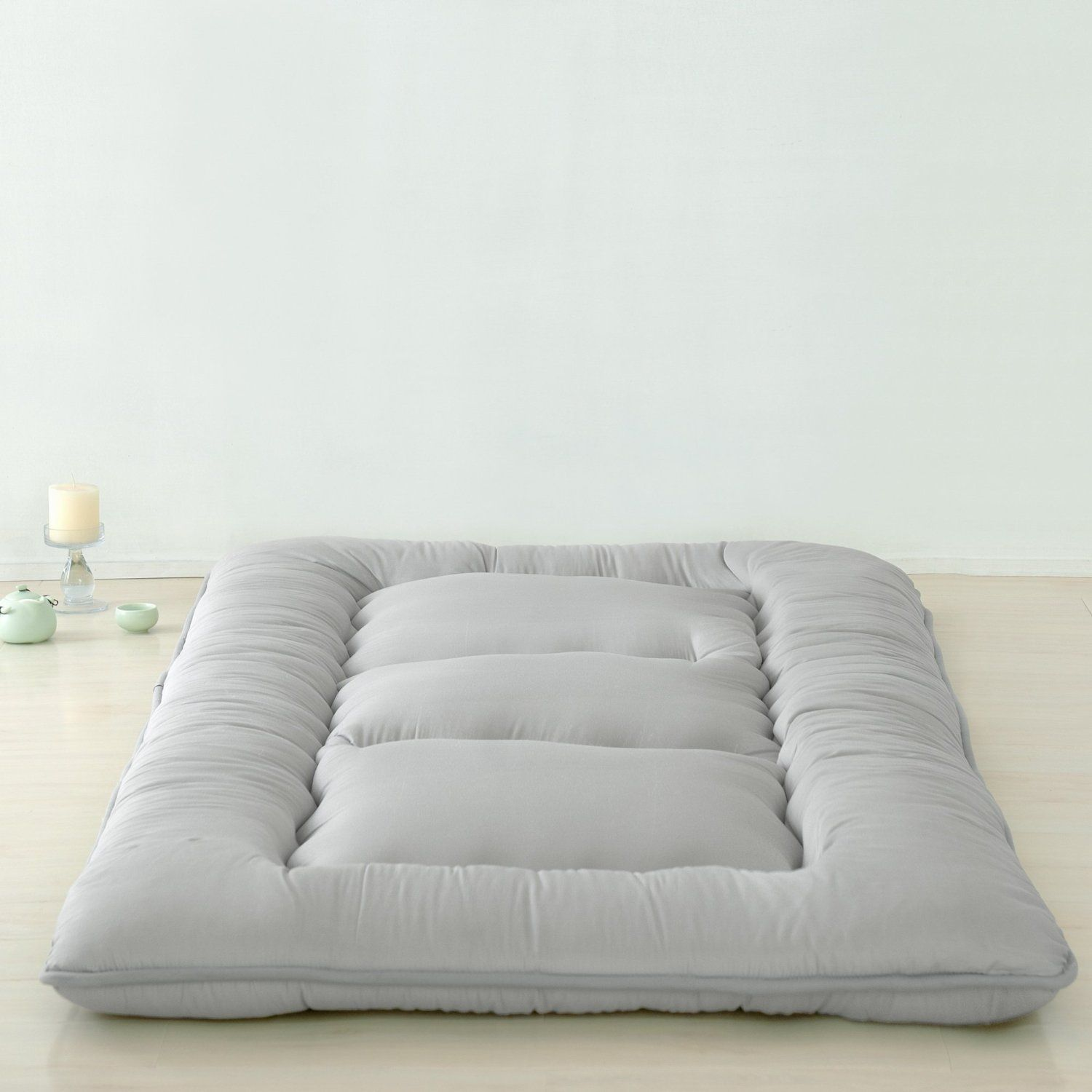 amazon: light grey futon tatami mat japanese futon mattress