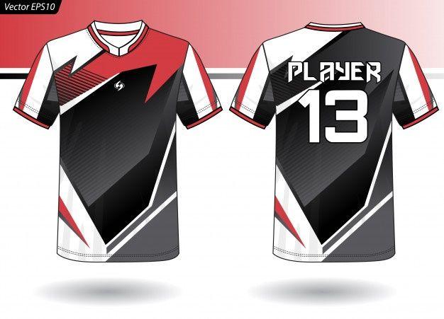Sports Jersey Template For Team Uniforms Team Uniforms T Shirt