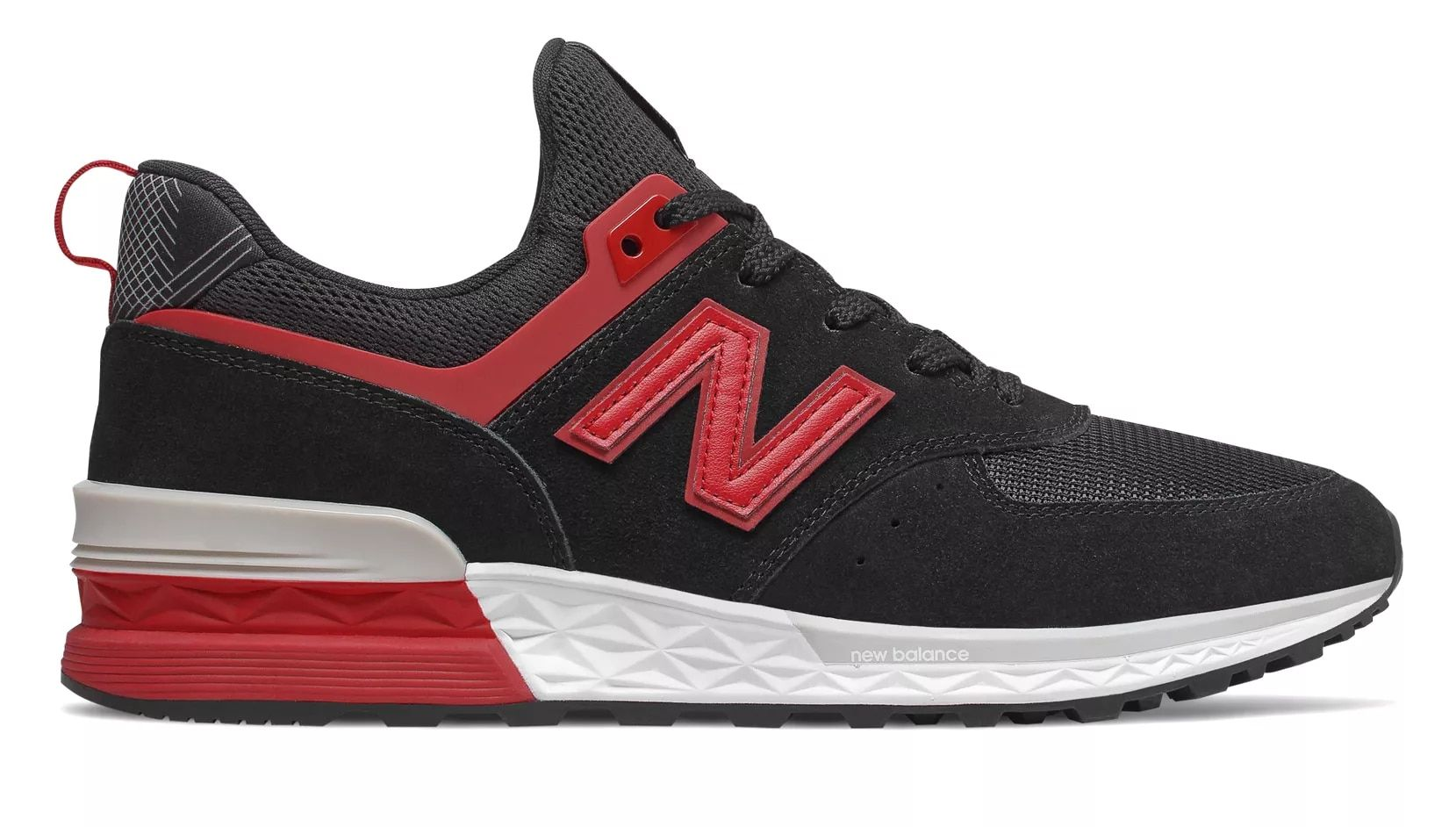 574 Sport, Black with Red