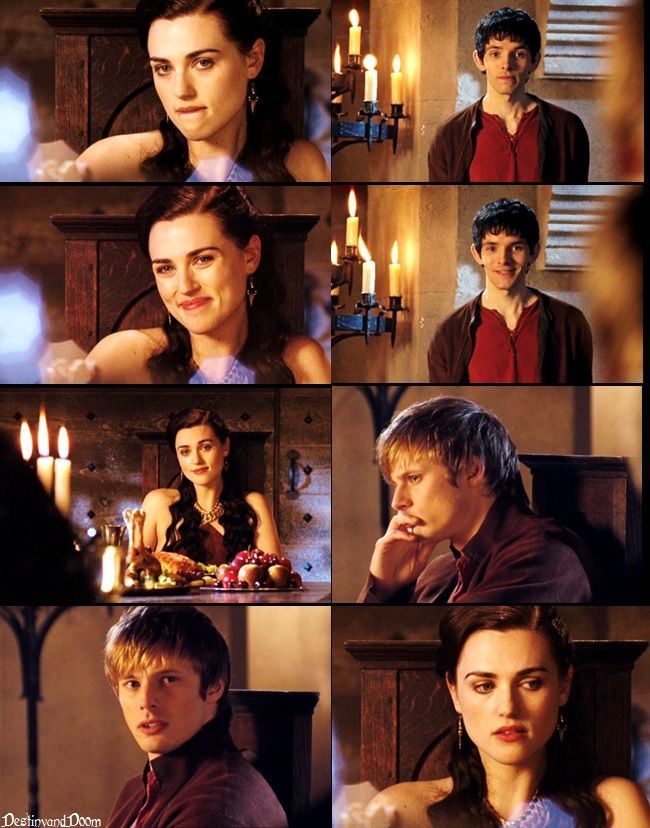 AU: Merlin and Morgana flirting + Arthur noticing edit by