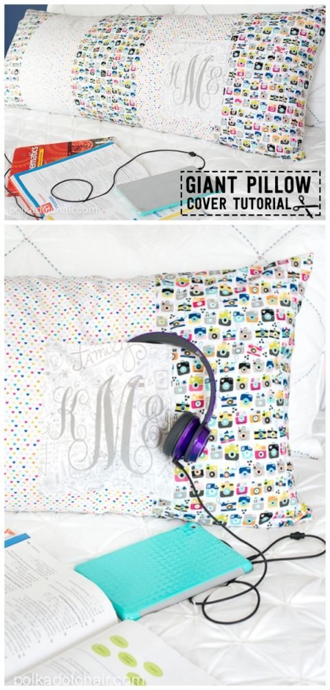 Giant Body Pillow Sewing pattern with pocket   Patrones de costura ...