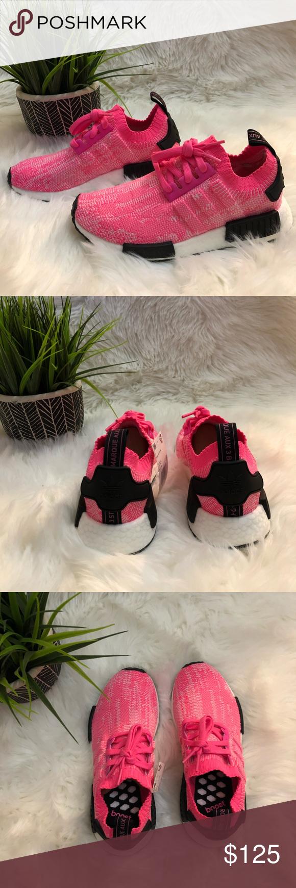 947e444a8b168 Adidas NMD R1 Primeknit Sneakers 7 NIB Brand new in box Adidas NMD R1 Primeknit  Sneakers. Women s size 7. Solar Pink  Solar Pink  Core Black. AQ1104 adidas  ...