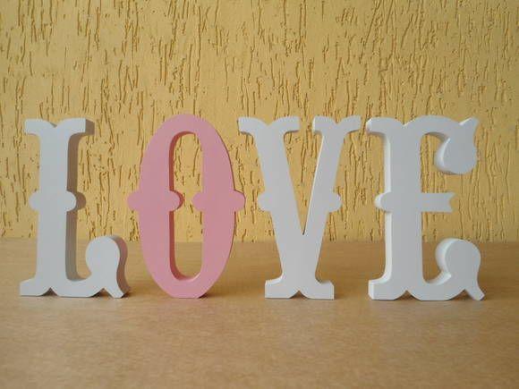 Artesanato Significado ~ Love letras decorativas Ideal para decorar mesas de festa de casamento, aniversário chá de