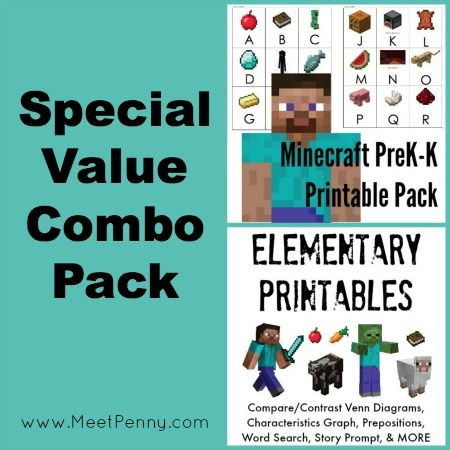Free Minecraft-Inspired Printable Pages | Worksheets, Activities and ...