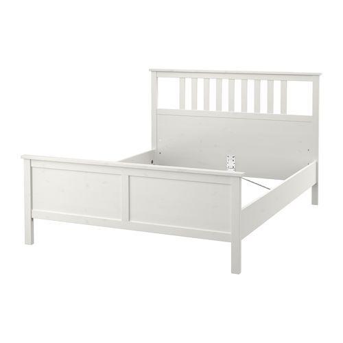 hemnes bed frame white stain l nset lee house hemnes. Black Bedroom Furniture Sets. Home Design Ideas