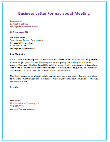 Great The Sample Business Letter Format Ideas That Are Found Here Are Meant To  Inspire And Guide