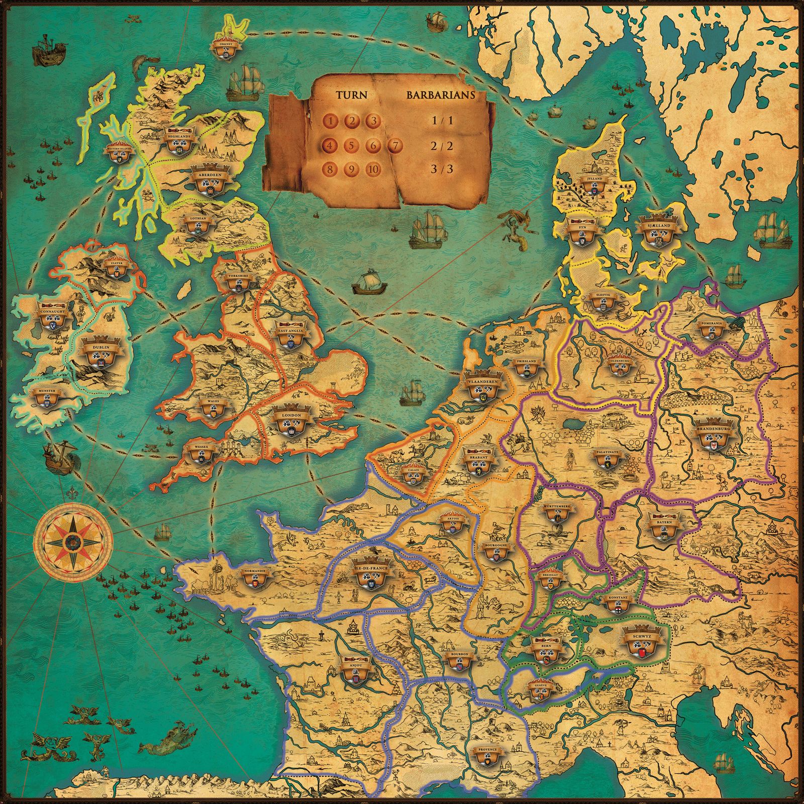 The map.. Middle Ages of Europe.. Who want's to play