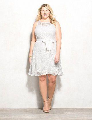 Luxe by Carmen Marc Valvo™ Plus Size White Lace Dress | Grad ideas ...