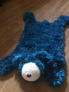 Faux Bear Skin Nursery Rug Pattern By