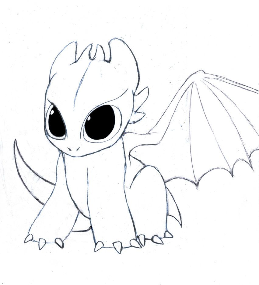 Chibi Toothless By Drmambo199 Easy Dragon Drawings Dragon