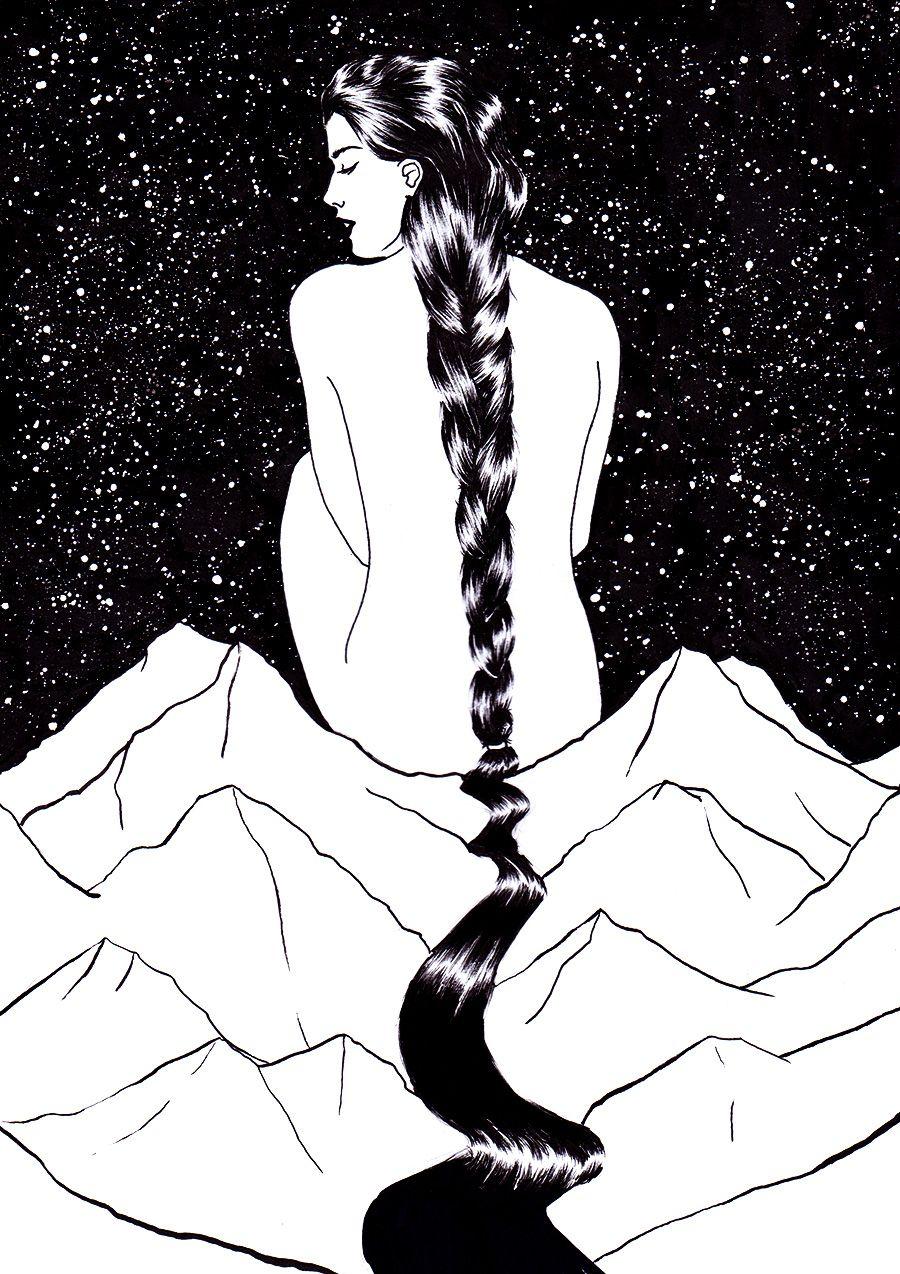 Impactantes y sensuales dibujos en blanco y negro creados por el artista Sivan Karim.