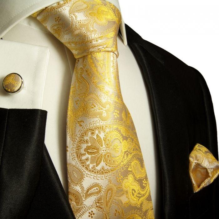 yellow paisley men's dress set