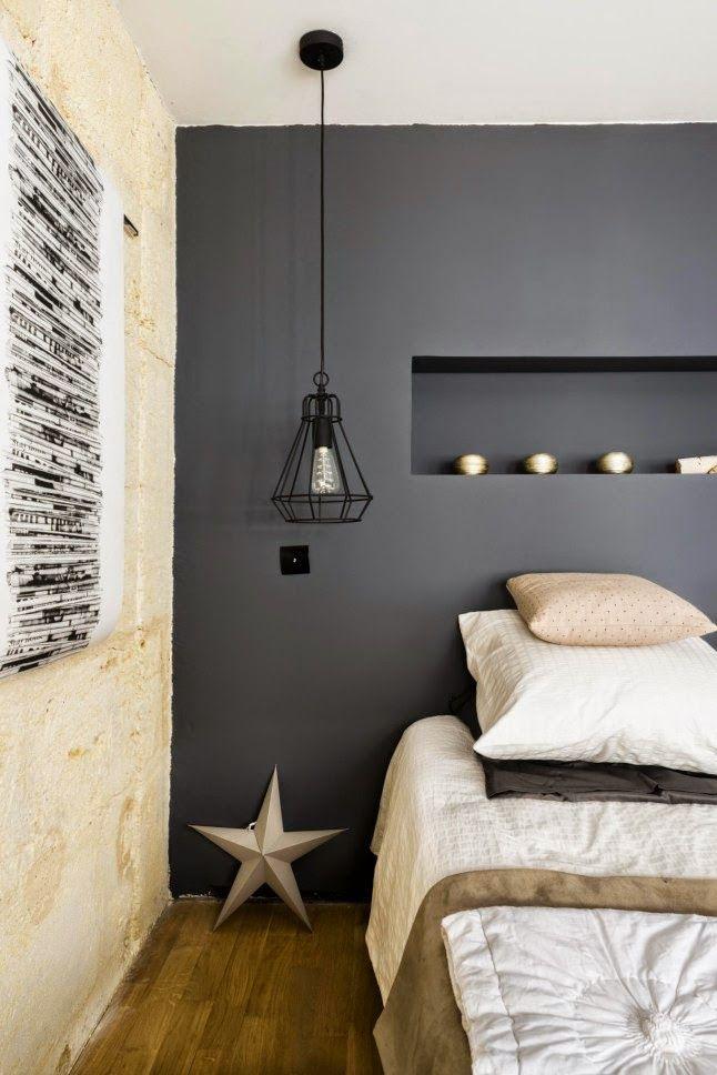 SCANDIMAGDECO Le Blog Un ancien garage transformé en habitation - couleur de la chambre