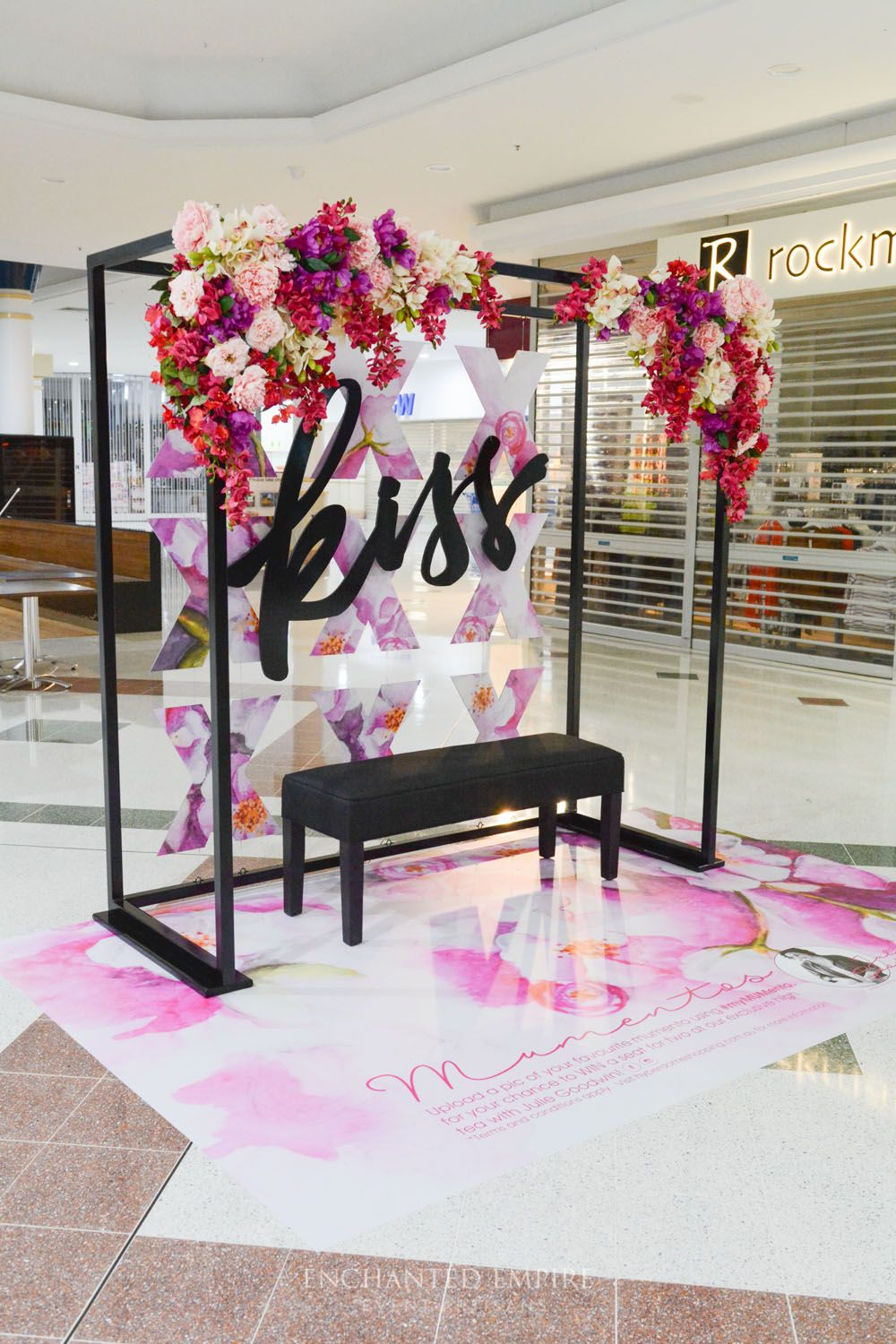 This Visual Merchandising install was created as a social media campaign for Mother's Day, for one of our large retail clients. With an emphasis on hand illustrated, watercolour florals, all painted in-house with our graphics team, these were transferred onto floor stickers and custom shaped backdrops. Visual merchandising. Promotional product launch. See full video on our YouTube channel: https://youtu.be/OVpjeORh83Q