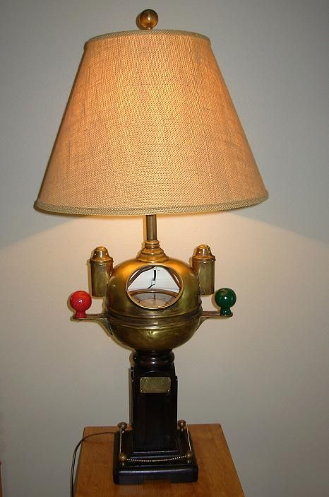 Antique Sestrel Binnacle Compass Lamp Lamp Table Lamp Novelty Lamp