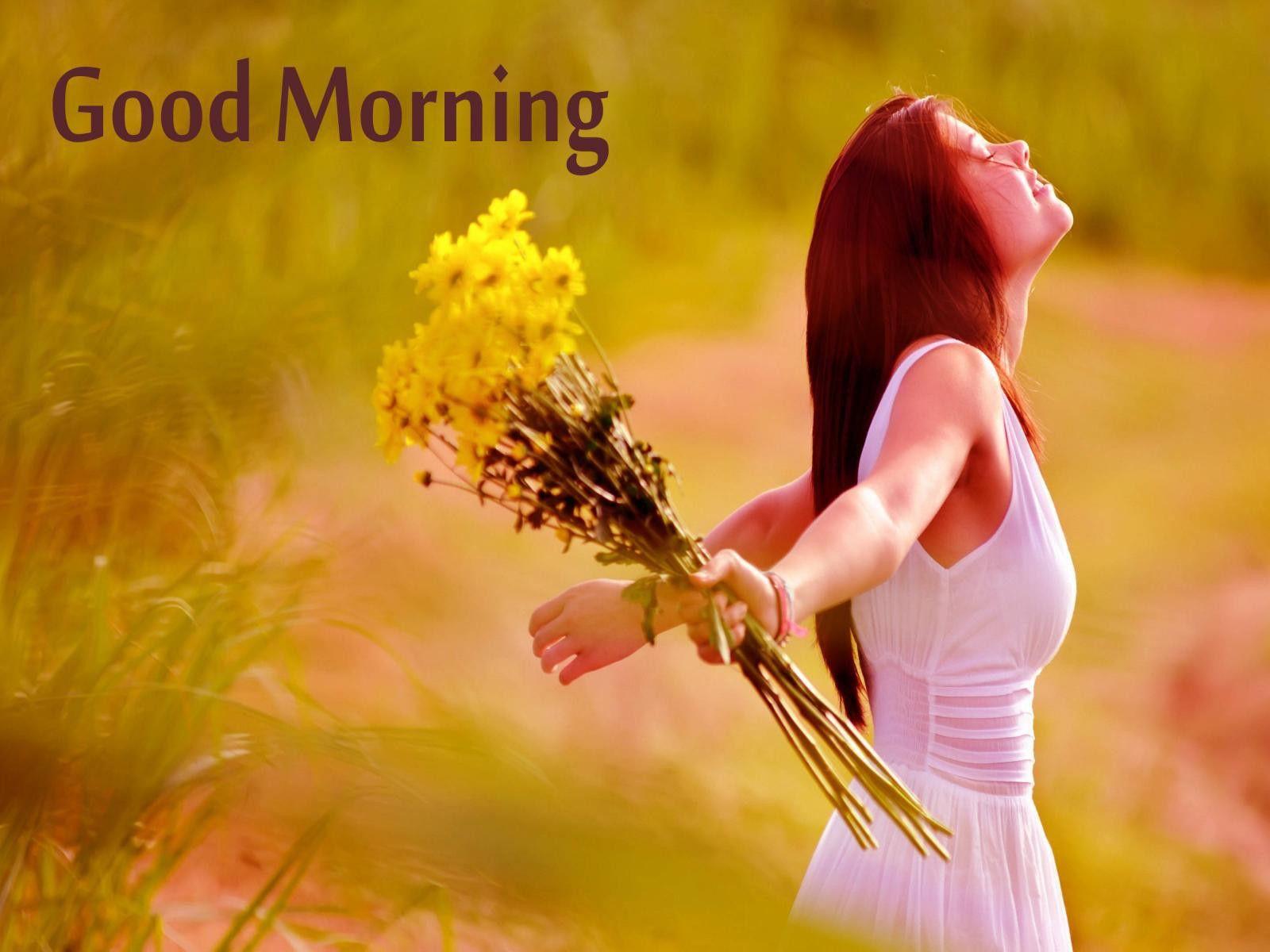 beautiful image morning Good girl