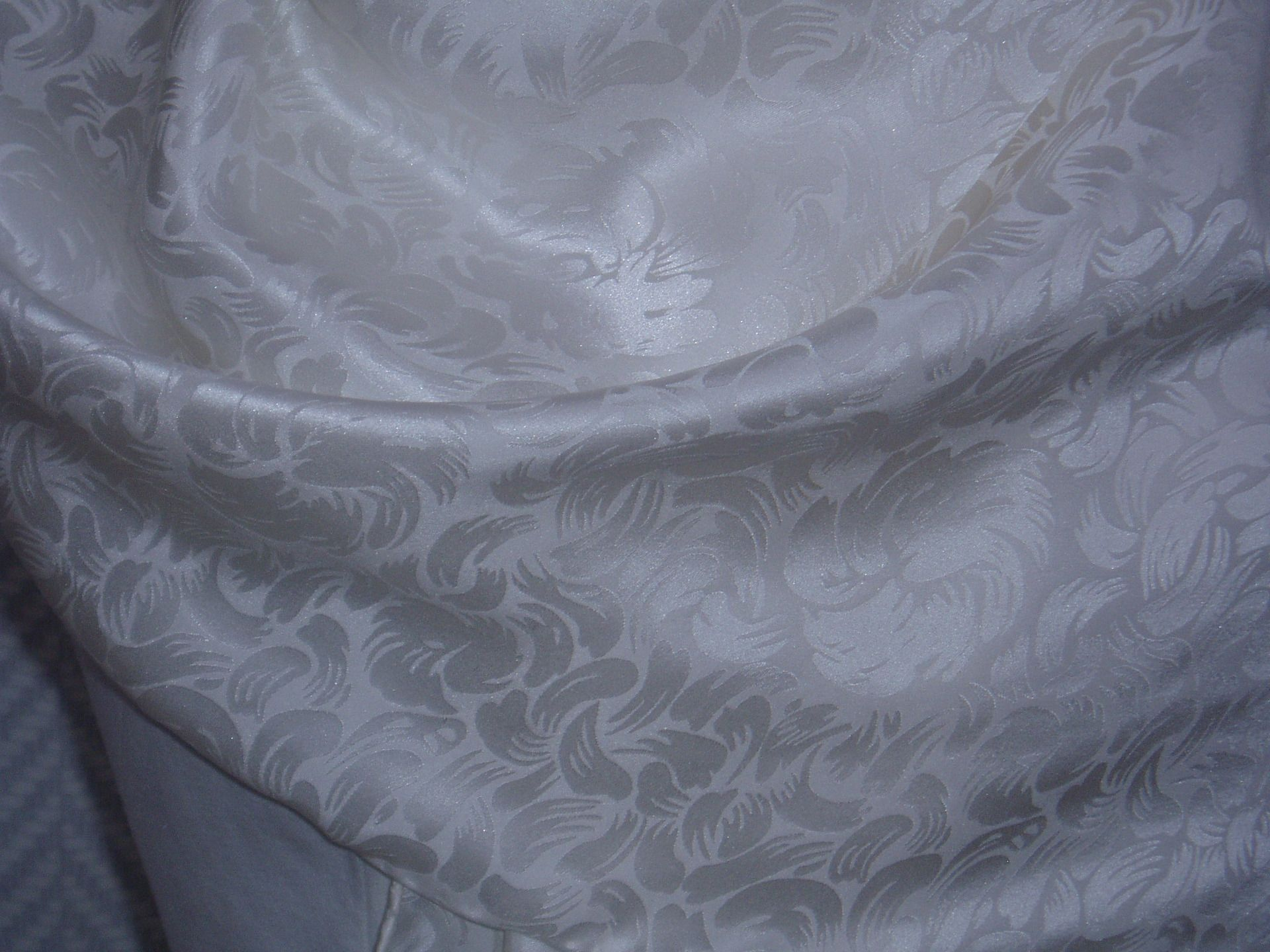 Echarpe étole foulard en soie blanche