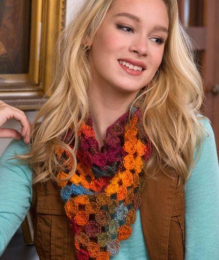 Yo Yo Scarf Free Crochet Pattern From Red Heart Yarns Accessories