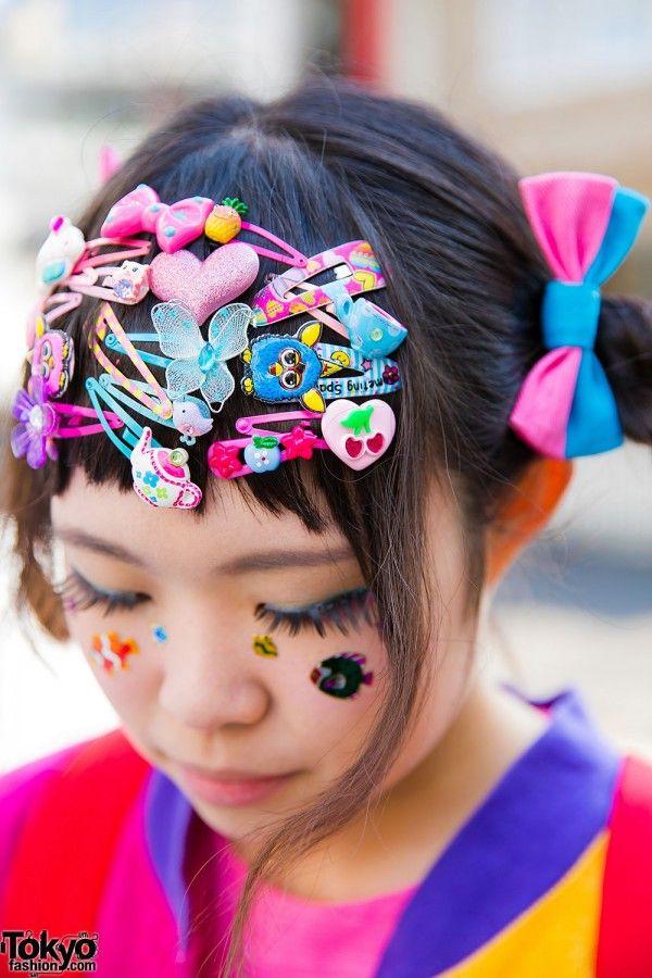 Decora Girl Hair Accessories In 2020 Kawaii Hair Clips Harajuku Hair Girls Hair Accessories