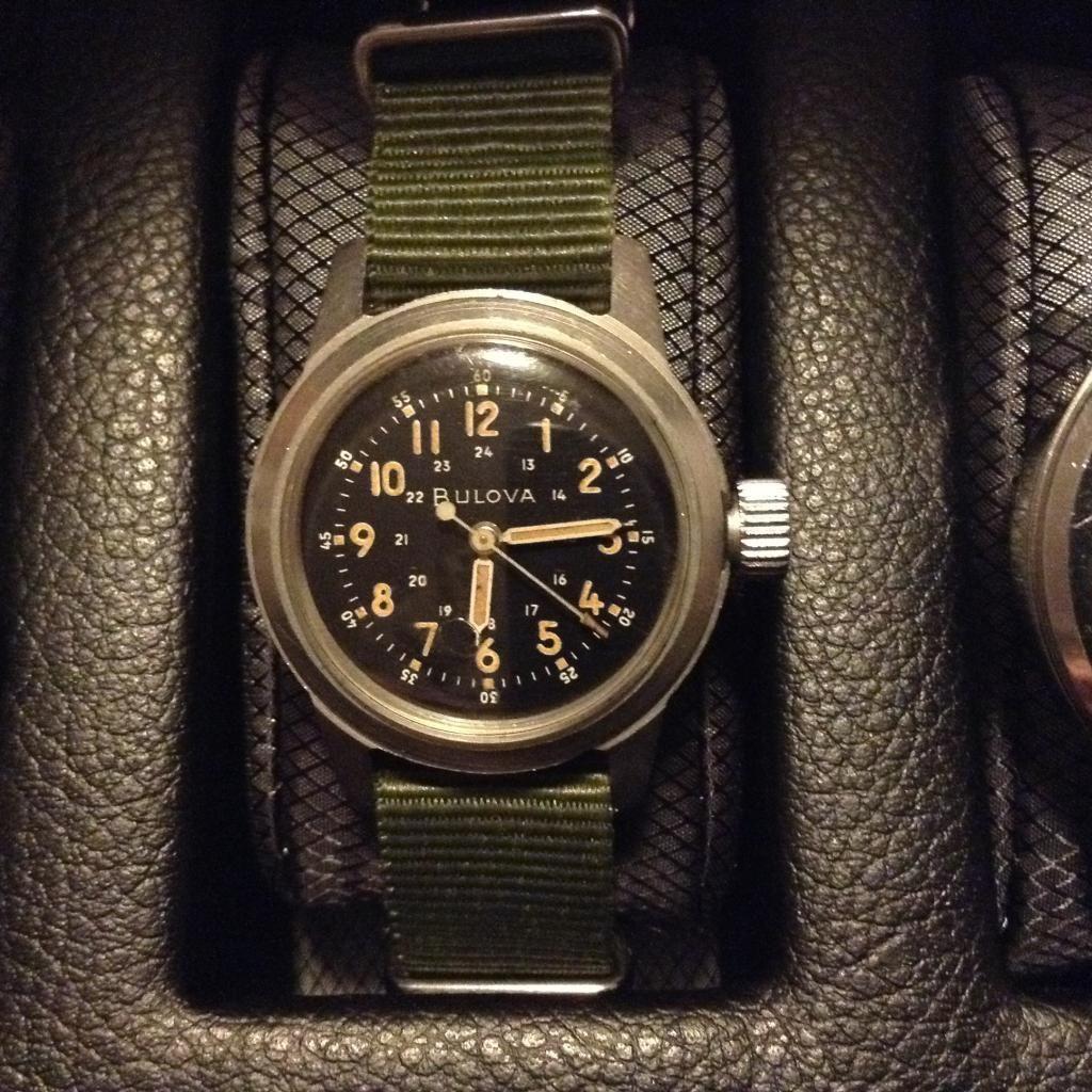 Bulova, A-17 Navigator watch, Mil-W-6433A, Korean War era
