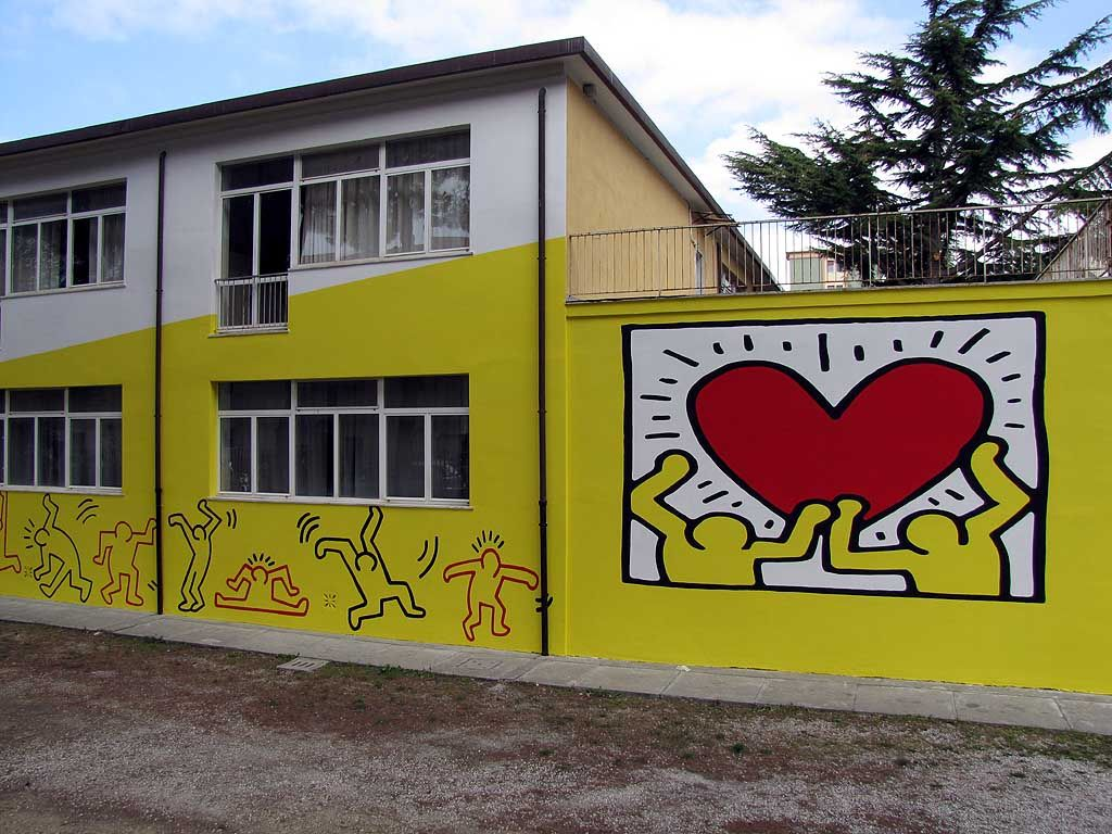Keith Haring mural, Colombo Institute, Livorno | murals of the big ...