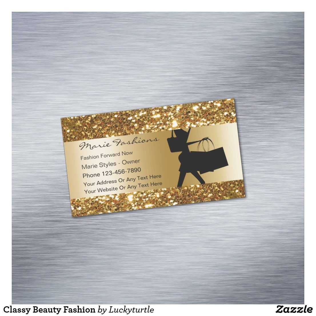 Classy Beauty Fashion Business Card Magnet | Business cards
