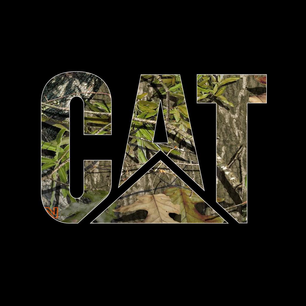 CAT Logo Caterpillar License Plate Tag Camo Camoflage