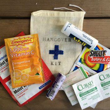 Hangover Kit Groomsman Bag From Everlongevents On Etsy