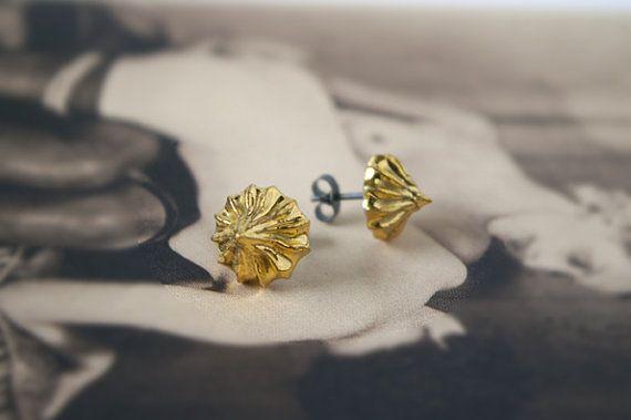 Rebecca Wilson - Ceramic - Gold Iced Gem Stud Earrings