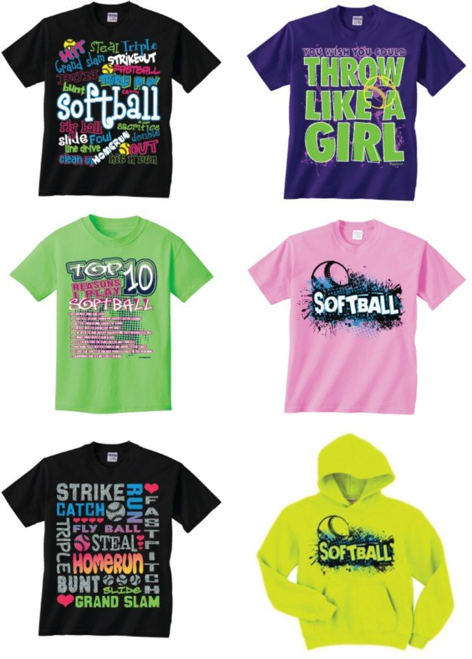 Softball T Shirt And Hoodie Screen Print Designs Display Your