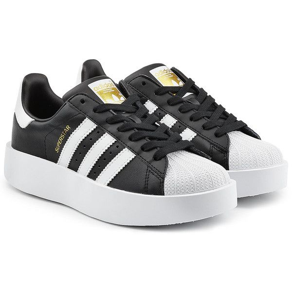 adidas superstar platform black