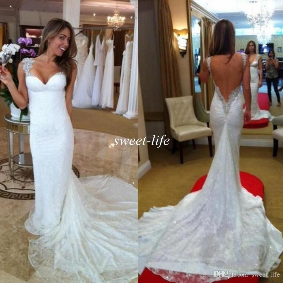 Free shipping 14846piecebuy wholesale inbal dror wedding free shipping 14846piecebuy wholesale inbal dror wedding dresses sexy mermaid backless lace bling sequins cap sleeves beading chapel train vintage ombrellifo Gallery